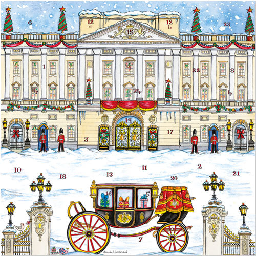 Buckingham Palace Advent Calendar Christmas Card