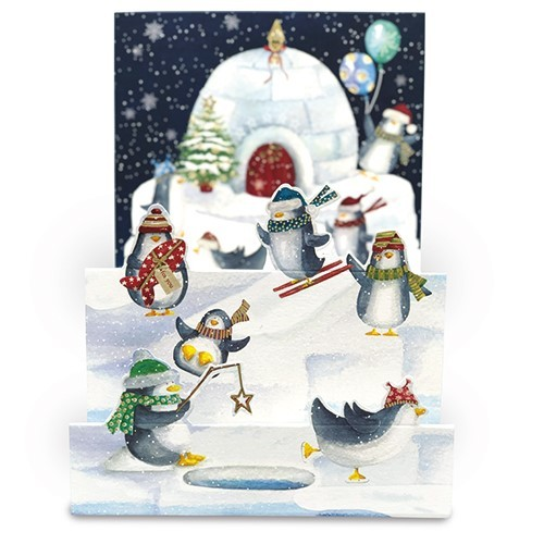 Winter Fun Penguin Christmas Card