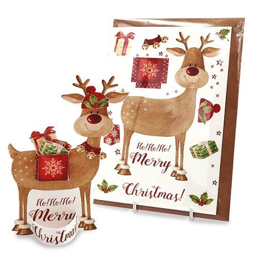 Image rudolph pop out christmas card